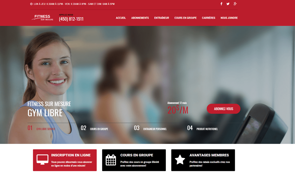 Gym Fitness sur mesure