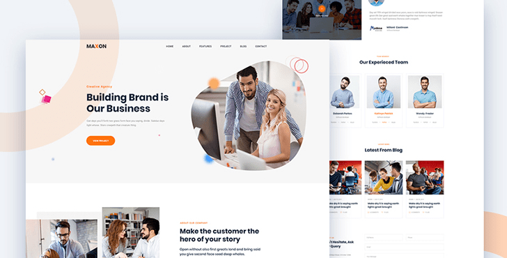 Maxon - A Free HTML Template for Creative Agency and Corporate